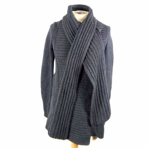 Theory S Grey Chunky Carolyn Cashmere Wool Sweater